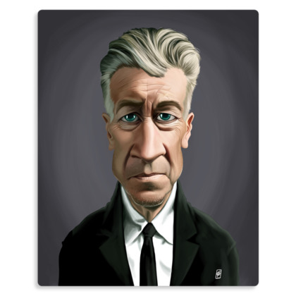 David Lynch Celebrity Caricature Metal Print
