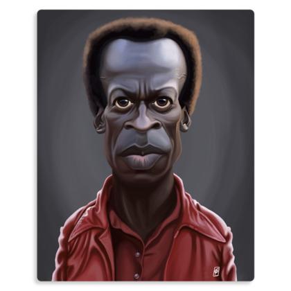 Miles Davis Celebrity Caricature Metal Print