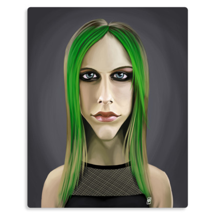 Avril Lavigne Celebrity Caricature Metal Print