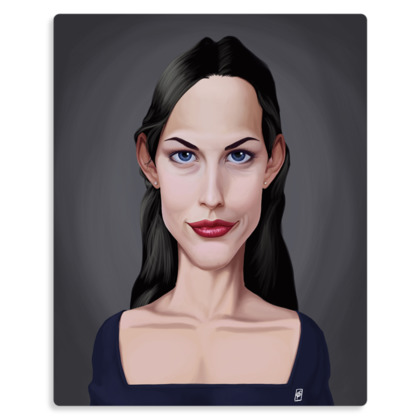 Liv Tyler Celebrity Caricature Metal Print