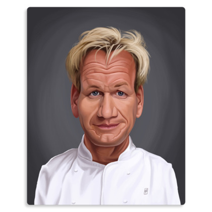 Gordon Ramsey Celebrity Caricature Metal Print