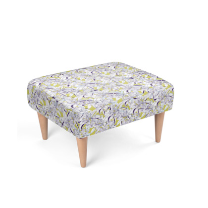 Abstract Lily Footstool