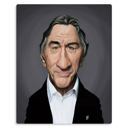 Robert De Niro Celebrity Caricature Metal Print