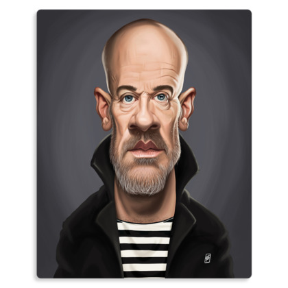 Michael Stipe Celebrity Caricature Metal Print
