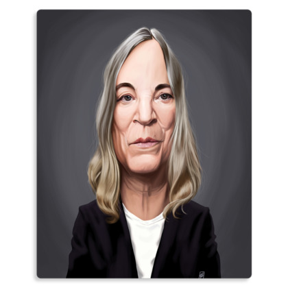 Patti Smith Celebrity Caricature Metal Print