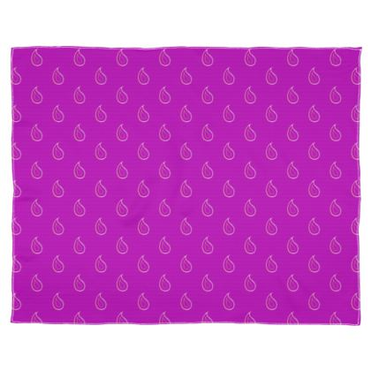 Paisley Drops on purple Scarf Wrap Or Shawl