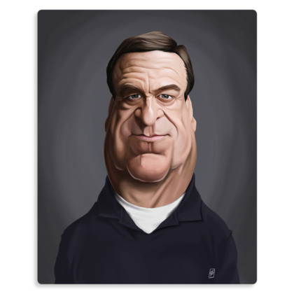 John Goodman Celebrity Caricature Metal Print