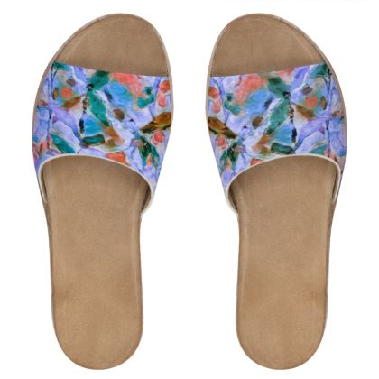 Leather Slip-On shoes in Multi coloured Petal