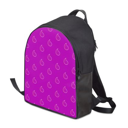 Paisley Drops on purple Backpack