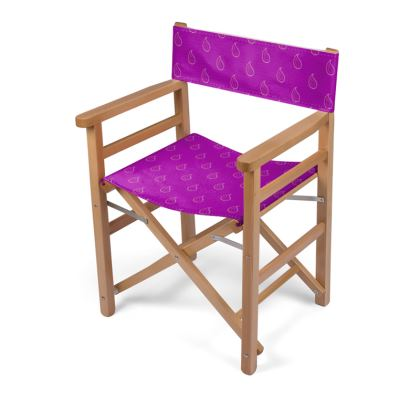 Paisley Drops on purple Directors Chair