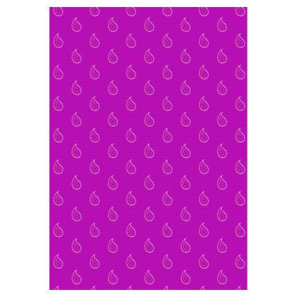 Paisley Drops on purple Double Deckchair