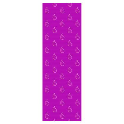 Paisley Drops on purple Deckchair