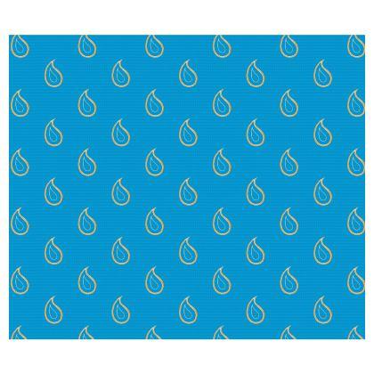 Paisley Drops on Petrol Blue Directors Chair