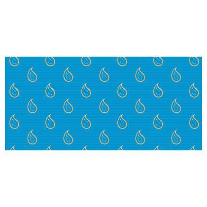 Paisley Drops on Petrol Blue Folding Stool Chair