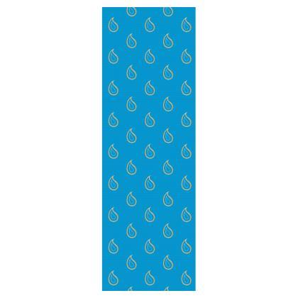 Paisley Drops on Petrol Blue Deckchair