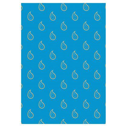 Paisley Drops on Petrol Blue Double Deckchair