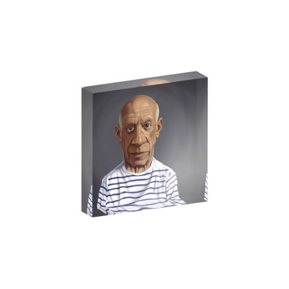 Pablo Picasso Celebrity Caricature Acrylic Photo Blocks