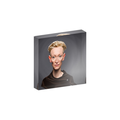 Tilda Swinton Celebrity Caricature Acrylic Photo Blocks