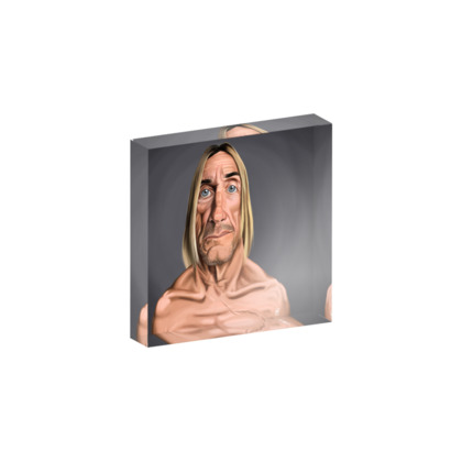 Iggy Pop Celebrity Caricature Acrylic Photo Blocks
