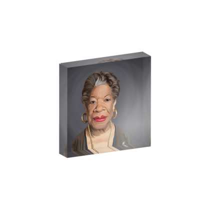 Maya Angelou Celebrity Caricature Acrylic Photo Blocks