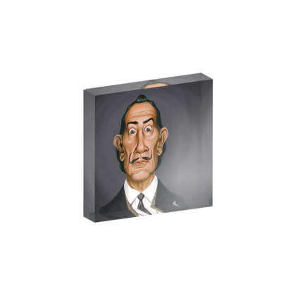 Salvador Dali Celebrity Caricature Acrylic Photo Blocks