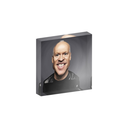 Michael Keaton Celebrity Caricature Acrylic Photo Blocks