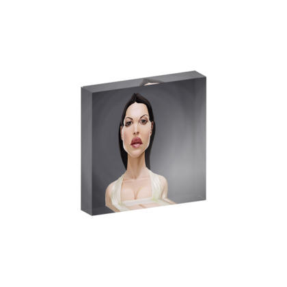 Monica Bellucci Celebrity Caricature Acrylic Photo Blocks