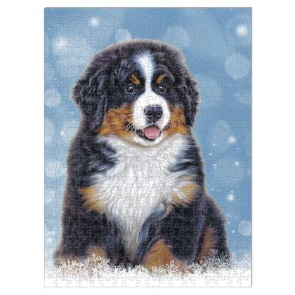 Puppy Love Jigsaw - 500 Piece Bernese Mountain Dog Jigsaw Puzzle