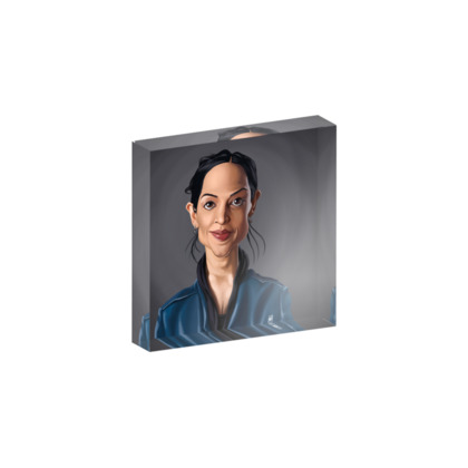 Archie Panjabi Celebrity Caricature Acrylic Photo Blocks