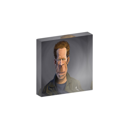 Tom Waits Celebrity Caricature Acrylic Photo Blocks