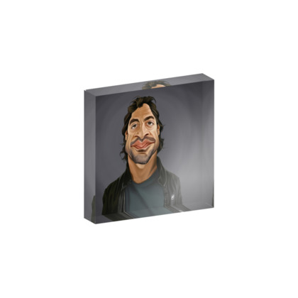 Javier Bardem Celebrity Caricature Acrylic Photo Blocks