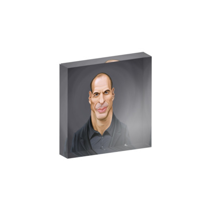 Yanis Varoufakis Celebrity Caricature Acrylic Photo Blocks