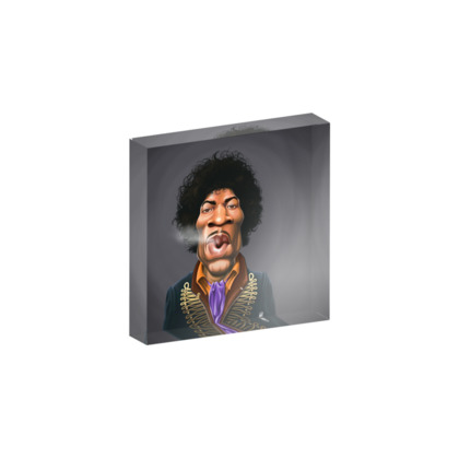 Jimi Hendrix Celebrity Caricature Acrylic Photo Blocks