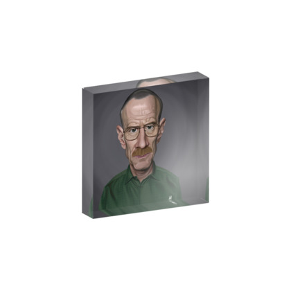 Bryan Cranston Celebrity Caricature Acrylic Photo Blocks