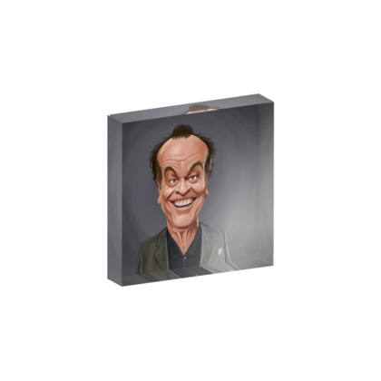 Jack Nicholson Celebrity Caricature Acrylic Photo Blocks
