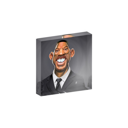 Will Smith Celebrity Caricature Acrylic Photo Blocks
