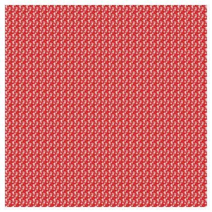 housse de coussin motif blanc, fond rouge