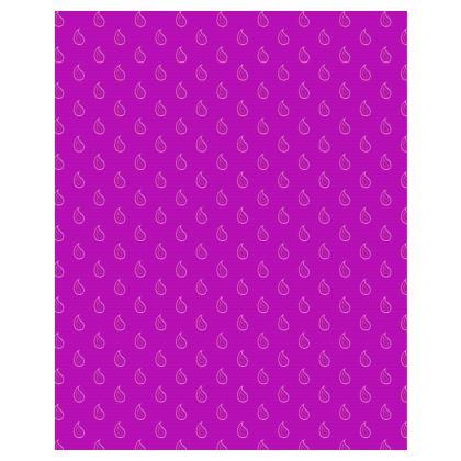 Paisley Drops on purple Towels