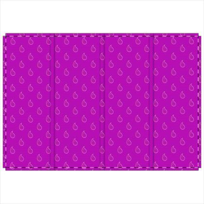 Paisley Drops on purple Folding Screen