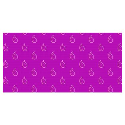 Paisley Drops on purple Roller Blinds