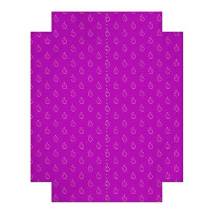 Paisley Drops on purple Fitted Sheets