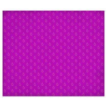 Paisley Drops on purple Duvet Covers USA