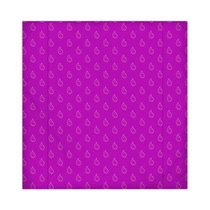 Paisley Drops on purple Duvet Covers JAPAN