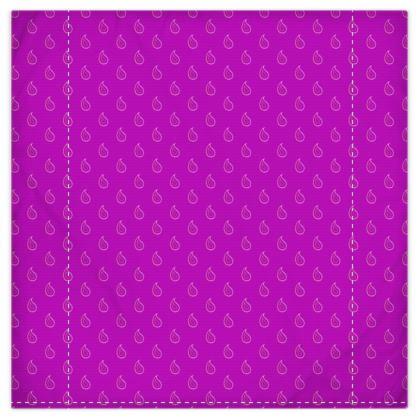 Paisley Drops on purple Duvet Covers