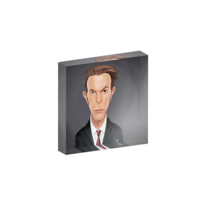 David Bowie Celebrity Caricature Acrylic Photo Blocks
