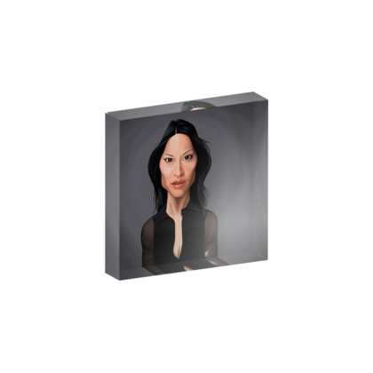 Lucy Liu Celebrity Caricature Acrylic Photo Blocks
