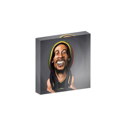 Bob Marley Celebrity Caricature Acrylic Photo Blocks
