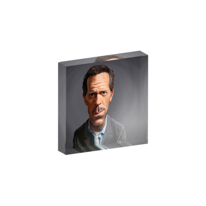 Hugh Laurie Celebrity Caricature Acrylic Photo Blocks