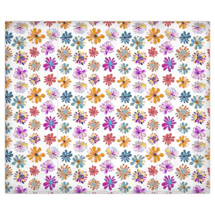 Rainbow Daisies Collection on white Duvet Covers USA
