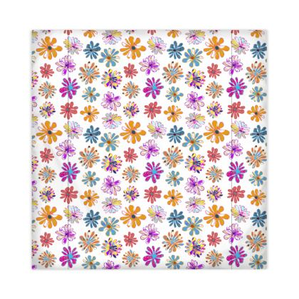 Rainbow Daisies Collection on white Duvet Covers JAPAN